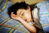 image of sweet dreams  - Cute little kid sleeping - JPG