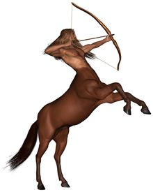 picture of centaur  - Sagittarius the centaur archer representing the ninth sign of the Zodiac  - JPG