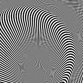 Design Monochrome Whirl Movement Illusion Background