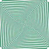 Abstract op art striped background. Vector art.