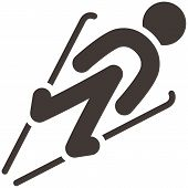 stock photo of nordic skiing  - Winter sport icons  - JPG