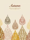 foto of elm  - Autumn colorful vector leaves background in beige and fall - JPG