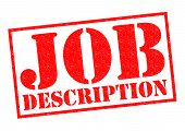 image of descriptive  - JOB DESCRIPTION red Rubber Stamp over a white background - JPG