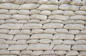 foto of sandbag  - Background sandbags of trenches world war one - JPG