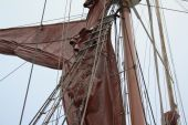 Rigging detail of Thames sailing barge