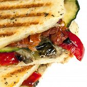 Roasted vegetable focaccia or panini.