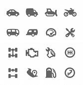 image of four-wheel drive  - Simple set of auto related vector icons for your design - JPG
