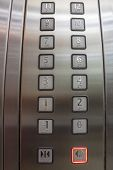 stock photo of braille  - Buttons in elevator one to twelve with Braille code - JPG