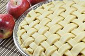 Apple pie, unbaked
