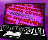 Addiction Screen Means Obsession Enslavement Or Dependence