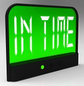 image of punctuality  - In Time Clock Meaning Punctual Or Not Late - JPG