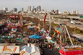 Elevated View Of Atlanta Fair Shows City Skyline