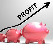 Profit Arrow Shows Sales And Earnings Projection