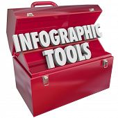 Infographic Tools Words Toolbox Illustrating Data