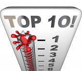 Постер, плакат: Top 10 Thermometer Measure Ten Best Scores Ratings Results
