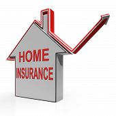 Home Insurance House Shows Protection And Cover