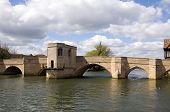 picture of st ives  - Old bridge over the River Great Ouse at St Ives Cambridgeshire - JPG