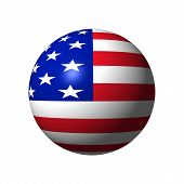 Sphere with Flag of Usa