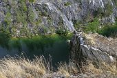 stock photo of groundwater  - Filled with groundwater former marble quarry - JPG