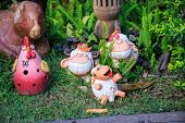 pic of garden sculpture  - Doll Garden Decoration Sculpture made  - JPG