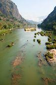 foto of ou  - River Nam Ou near Nong Khiao in Laos landscape in the province Luang Prabang - JPG