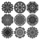 pic of doilies  - Circle lace ornament - JPG