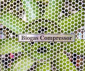 stock photo of biogas  - close up shot of commercial fan of compressor image - JPG