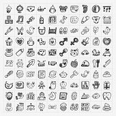 stock photo of baby bear  - Doodle Baby Icon Sets - JPG
