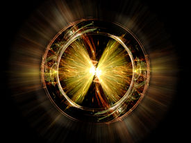 foto of higgs boson  - Higgs boson particle computer generated abstract background - JPG