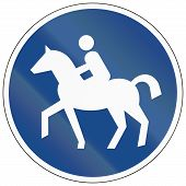 image of bridle  - German traffic sign for bridle way  - JPG