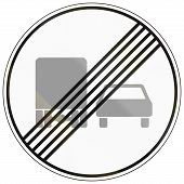 foto of rear-end  - German traffic sign - JPG