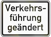 image of traffic sign  - German traffic sign additional panel to specify the meaning of other signs - JPG