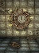 picture of steampunk  - Fantasy scene with steampunk style in the a box - JPG