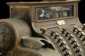 picture of cash register  - In front of black background - JPG