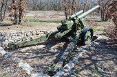 foto of cannon  - Old German cannon in a museum in city Sevastopol - JPG