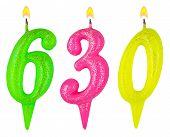 Постер, плакат: Candles Number Six Hundred Thirty