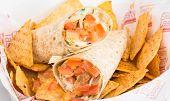 picture of shawarma  - Chicken Doner Kebab or Chicken Shawarma close up - JPG