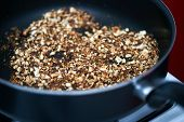 picture of ground nut  - Ground nuts mix dry frying in the pan on stove