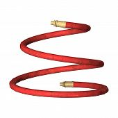 picture of ares  - 3D digital render of ared air hose isolated on white background - JPG