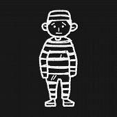 stock photo of jail  - Jail Doodle - JPG