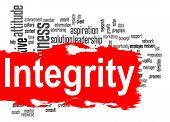 image of integrity  - Integrity word cloud image with hi - JPG