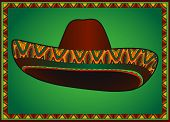 picture of sombrero  - Vector traditional mexican hat - JPG