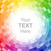 picture of color wheel  - Abstract pixelated color wheel background - JPG