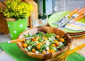 foto of butternut  - Delicious butternut squash arugula couscous and feta salad - JPG