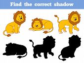 picture of lion  - Game for children - JPG