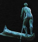 stock photo of soul  - Charon is the ferryman of souls in the world of the dead  - JPG