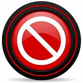 picture of denied  - access denied red glossy web icon  - JPG