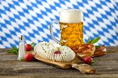 stock photo of pretzels  - A typical Bavarian snack - JPG