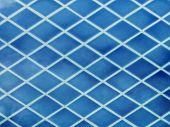foto of ceramic tile  - blue ceramic tiles abstract diagonal texture in swimming pool  - JPG