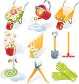 Постер, плакат: Вектор садоводства икона set